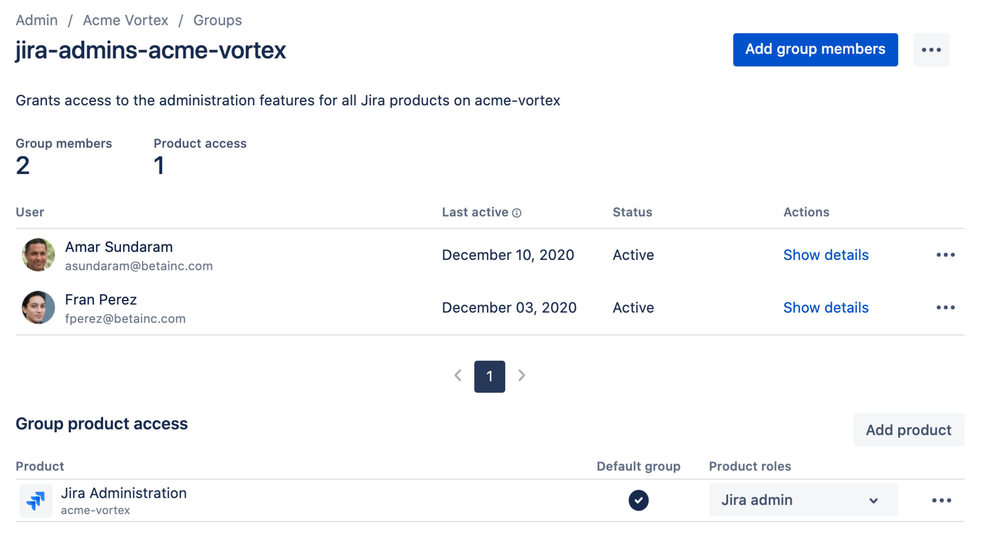 ユーザーに製品管理者権限を付与する