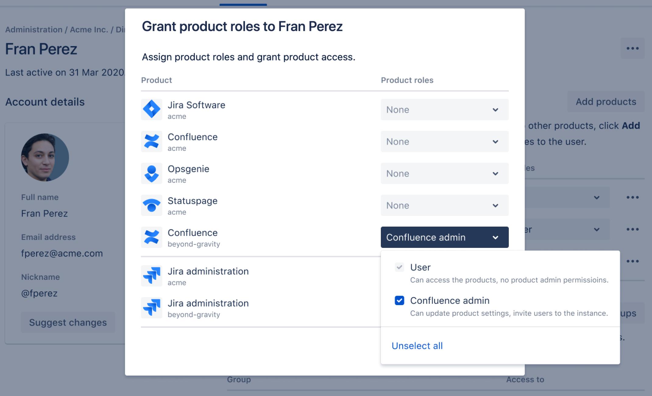 ユーザーに製品へのアクセス権を付与する