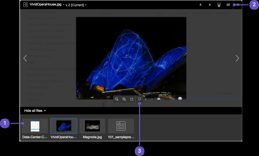 Confluence の画像プレビューのスクリーンショット